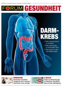 Titelblatt Sonderheft Gesundheit zu Forum-Ausgabe 34